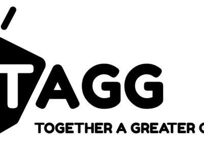 TAGG Black Logo with Tagline PNG