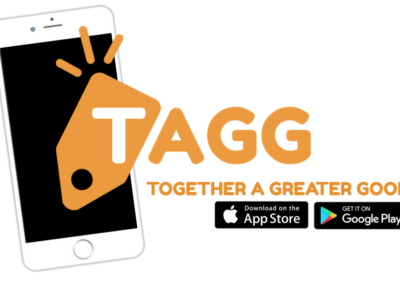 TAGG Logo with Phone and App Buttons PNG