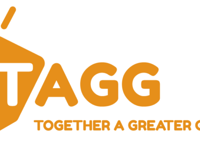TAGG Orange Logo with Tagline PNG